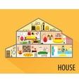 House cartoon interior vector image