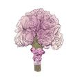 Peony wedding bouquet isolated vector image vector image