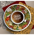 with a Cup of coffee and italian food vector image
