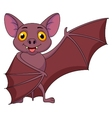 Bat cartoon waving vector image