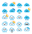 Cute cloud - Kawaii Manga icons with different vector image