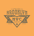 emblem of the sports team of new york vector image