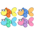 Fish in color vector image