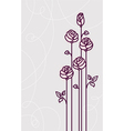 Flower roses card wedding background vector image