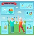 Senior Sport Infographics vector image