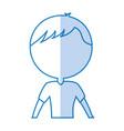 Shadow upper body man cartoon vector image
