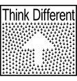 Think different business concept vector image