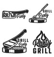 vintage grill party emblems vector image