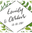 wedding invite invitation save the date floral vector image
