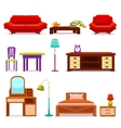 Hotel Furniture Set vector image