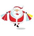 Santa shopping vector image vector image