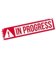 In progress rubber stamp vector image