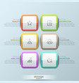 modern infographic design template 6 multicolored vector image