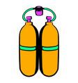 aqualung icon in icon cartoon vector image