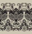 border seamless pattern indian floral vector image vector image