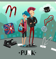 punk subculture composition vector image