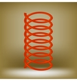 Metal Red Spring vector image