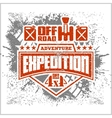 Expedition - emblem with 4x4 vehicle off-road vector image