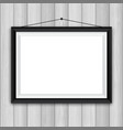 picture frame on wood background 1503 vector image