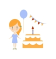 Birthday Party As Personal Happiness Idea vector image