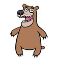 cartoon friendly bear vector image