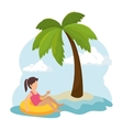 child with float character vector image