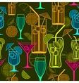 Cocktails background vector image