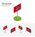 flag of tennessee usa 3d isometric flat icons vector image