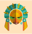 Image of a mask of the mayans with ethnic ornament vector image