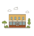 Pub Building Flat Style vector image