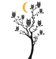 owls sitting on tree vector image