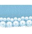bingo lottery ball Christmas snowballs vector image