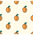 Seamless pattern with apricot vector image