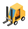 Loader isometric 3d icon vector image