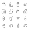 Set of icons for milk vector image