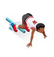 Running Starting Line Kids 2016 Sports Isometric vector image