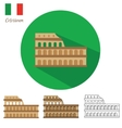 Colosseum Icon Set vector image