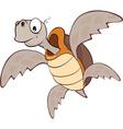 Cute Sea Turtle Cartoon Character vector image