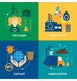 Garbage icons composition vector image