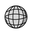 grayscale global digital network social connection vector image