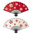 oriental fan vector image