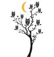 Owls sitting on tree vector image