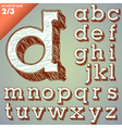 Sketch hand drawing alphabet vector image