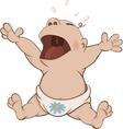 The crying boy cartoon vector image