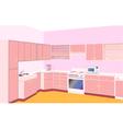 furniture on kitchen by set modern vector image vector image