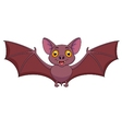 Bat cartoon flying vector image