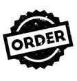 order rubber stamp vector image