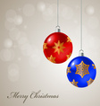 Christmas card with colored balls vector image vector image