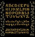 set of hand drawn glitter golden alphabet in vector image