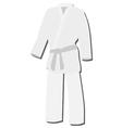White kimono vector image